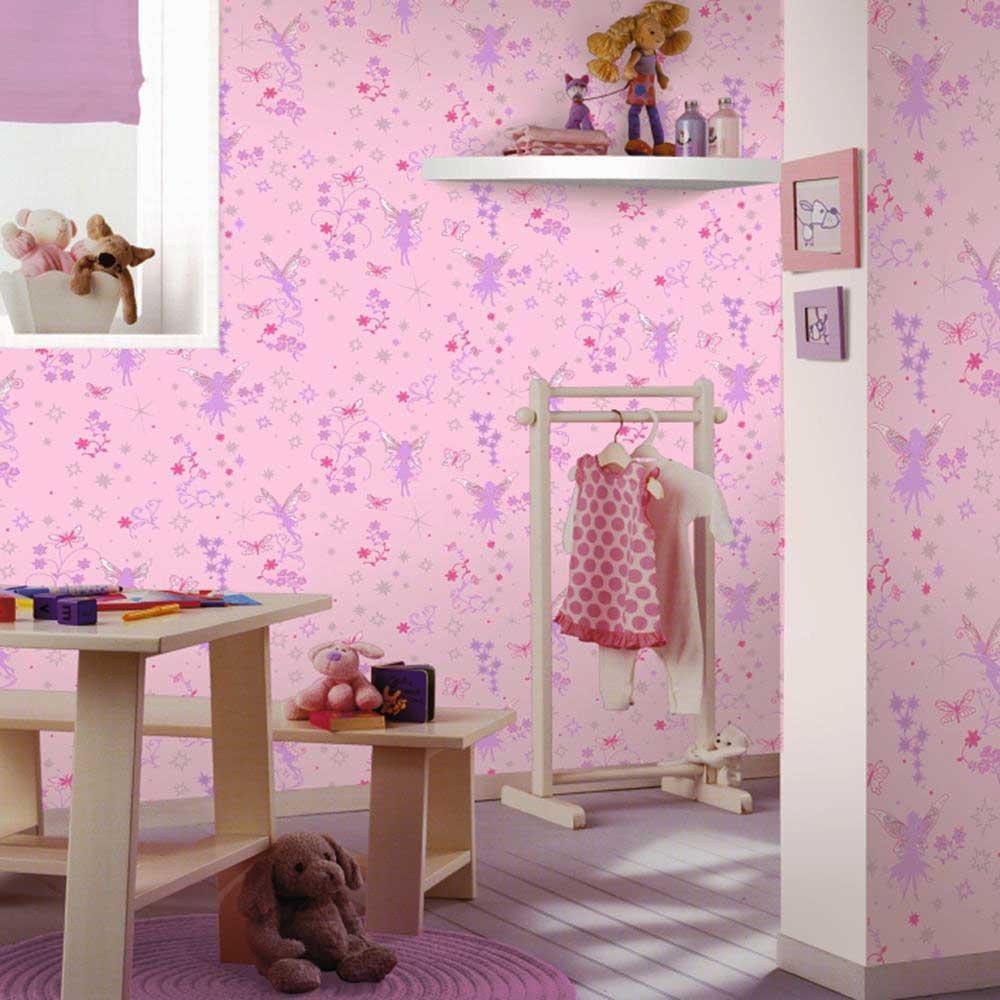 tapete glitter elfen feen pink m dchenzimmer. Black Bedroom Furniture Sets. Home Design Ideas