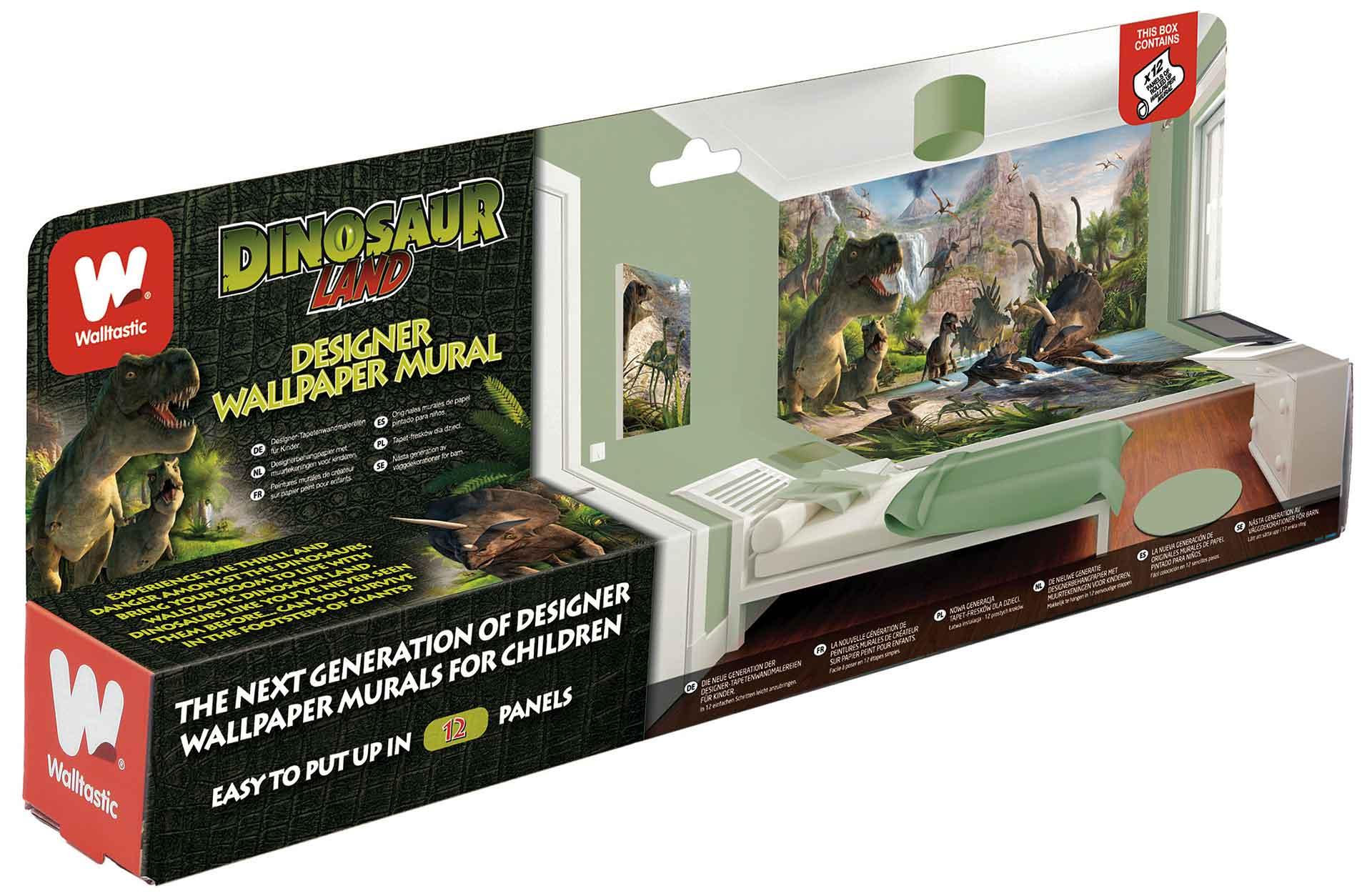 Riesen Wandbild Fototapete Kinderzimmer von Walltastic™ Dinosaurier ...
