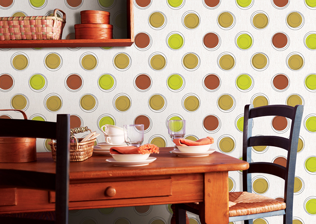 Selbstklebende Tapete Retro : tapete selbstklebend dekofolie vintage kreise abwischbare tapeten