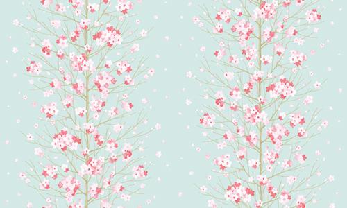 Design Tapeten Selbstklebend : Tapete selbstklebend Dekofolie Blumenstaude Seideneffekt blau