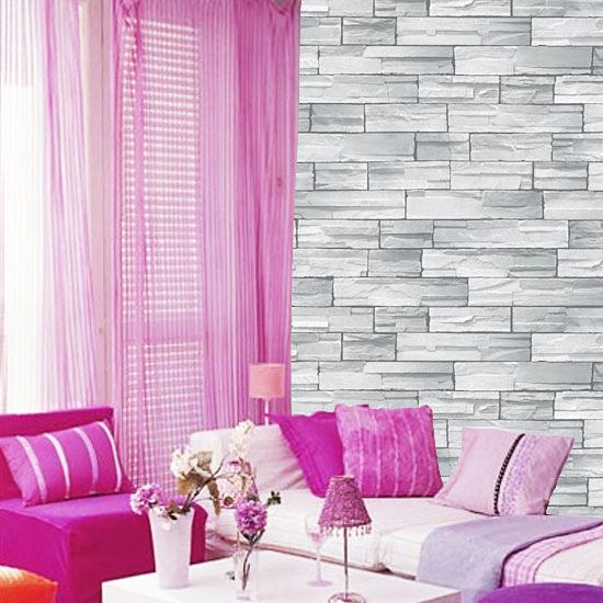 tapete selbstklebend blau grauer stein effekt 100x100 cm. Black Bedroom Furniture Sets. Home Design Ideas