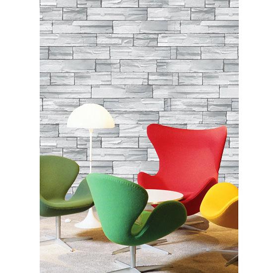 tapete selbstklebend blau grauer stein effekt 100x100 cm abwischbar vinyltapete ebay. Black Bedroom Furniture Sets. Home Design Ideas