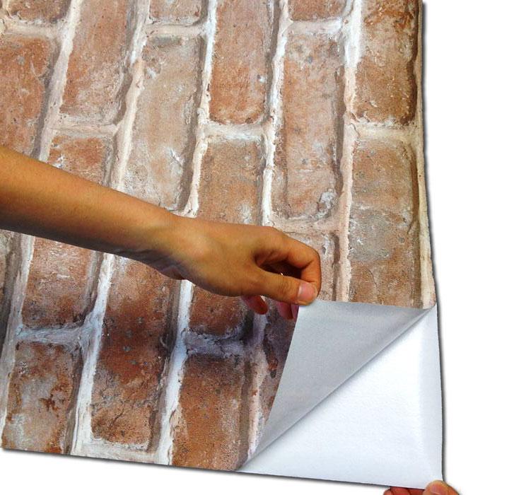 Selbstklebende Tapete Stein : tapete selbstklebend dekofolie mauerstein abwischbare tapeten