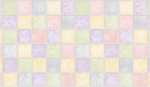 Selbstklebende Fliesen Tapete : Tapete selbstklebend bunte Fliesen Kacheln-Fliesentapete