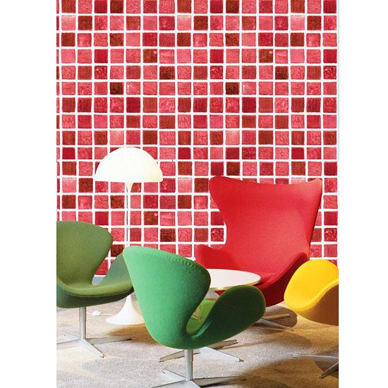 Tapete selbstklebend mosaik fliesen rot 50cm fliesentapete for Dekorfolie fliesen