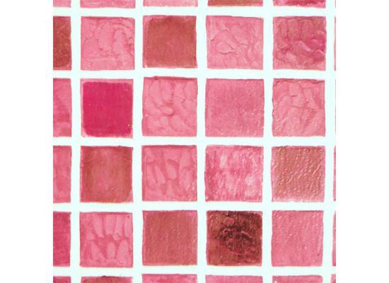 Selbstklebende Tapete Abwaschbar : Tapete selbstklebend Dekofolie Mosaik Fliesen rot 100 x 85cm