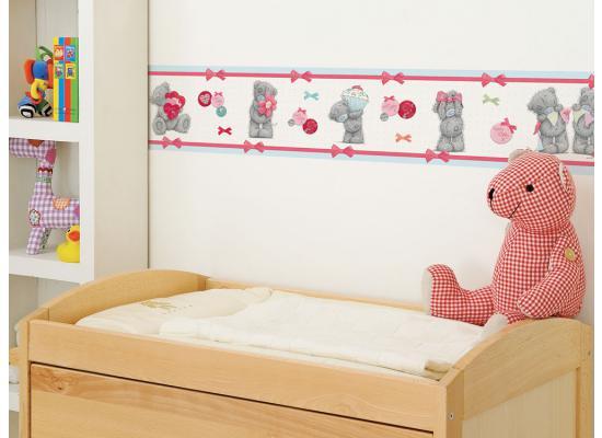 tapeten bord re borte me to you tatty teddy teddyb ren kinderzimmer 4 00 1m ebay. Black Bedroom Furniture Sets. Home Design Ideas