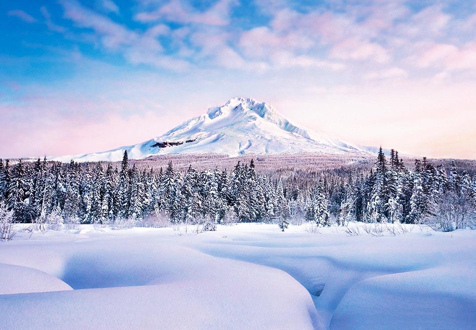 Fototapete Wandbild Winter In Den Bergen Fototapete 8 Teile