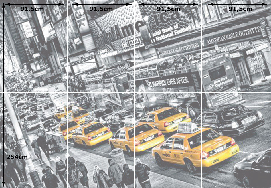 Wizard genius fototapete wandbild taxi cabs in new york - Wandbild new york ...