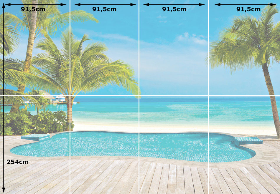 Wandbild Fototapete XL Pool Am Meer Wandbild Fototapete XL Pool Am Meer  Raumeindruck ...