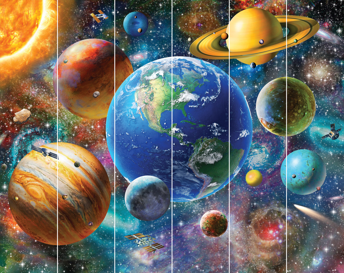 walltastic fototapete kinderzimmer wandbild weltraum planeten jungen wanddeko www 4. Black Bedroom Furniture Sets. Home Design Ideas