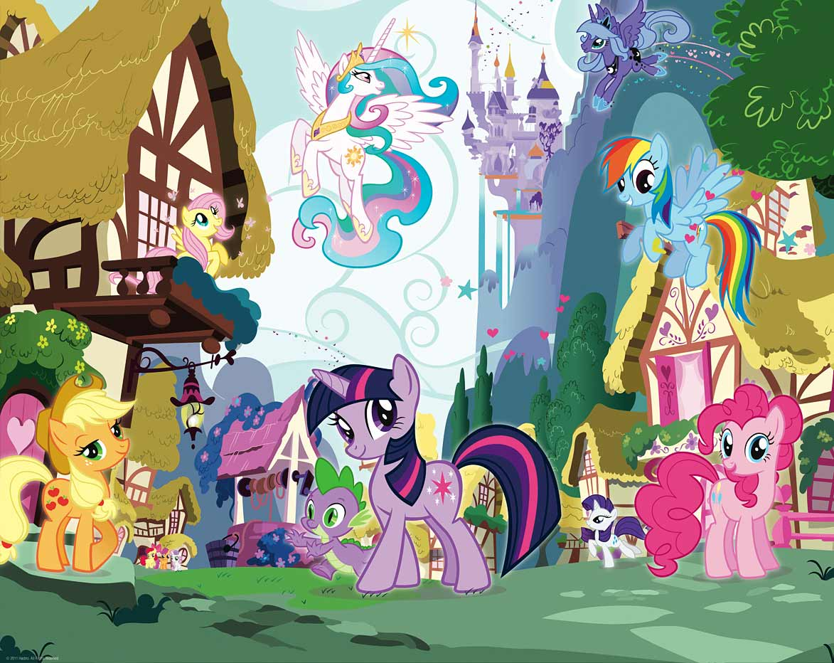 fototapete kinderzimmer wandbild my little pony pferde 22 95 1m neues design ebay. Black Bedroom Furniture Sets. Home Design Ideas