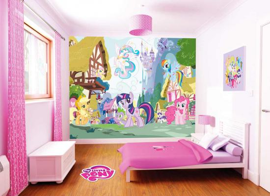 fototapete kinderzimmer wandbild my little pony pferde 22. Black Bedroom Furniture Sets. Home Design Ideas