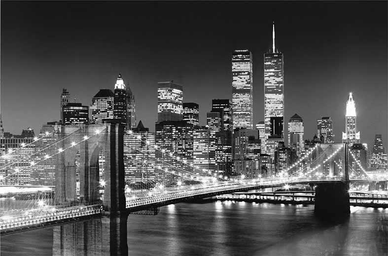 wandbild poster brooklyn bridge riesen fototapete. Black Bedroom Furniture Sets. Home Design Ideas