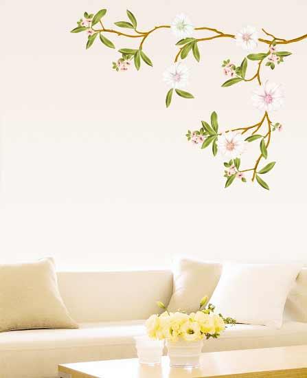 wandsticker wei er mandelbl tenzweig blumen baum. Black Bedroom Furniture Sets. Home Design Ideas