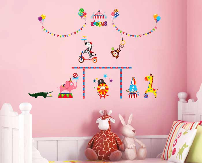 wandsticker tiere zirkus manege wandsticker kinderzimmer. Black Bedroom Furniture Sets. Home Design Ideas