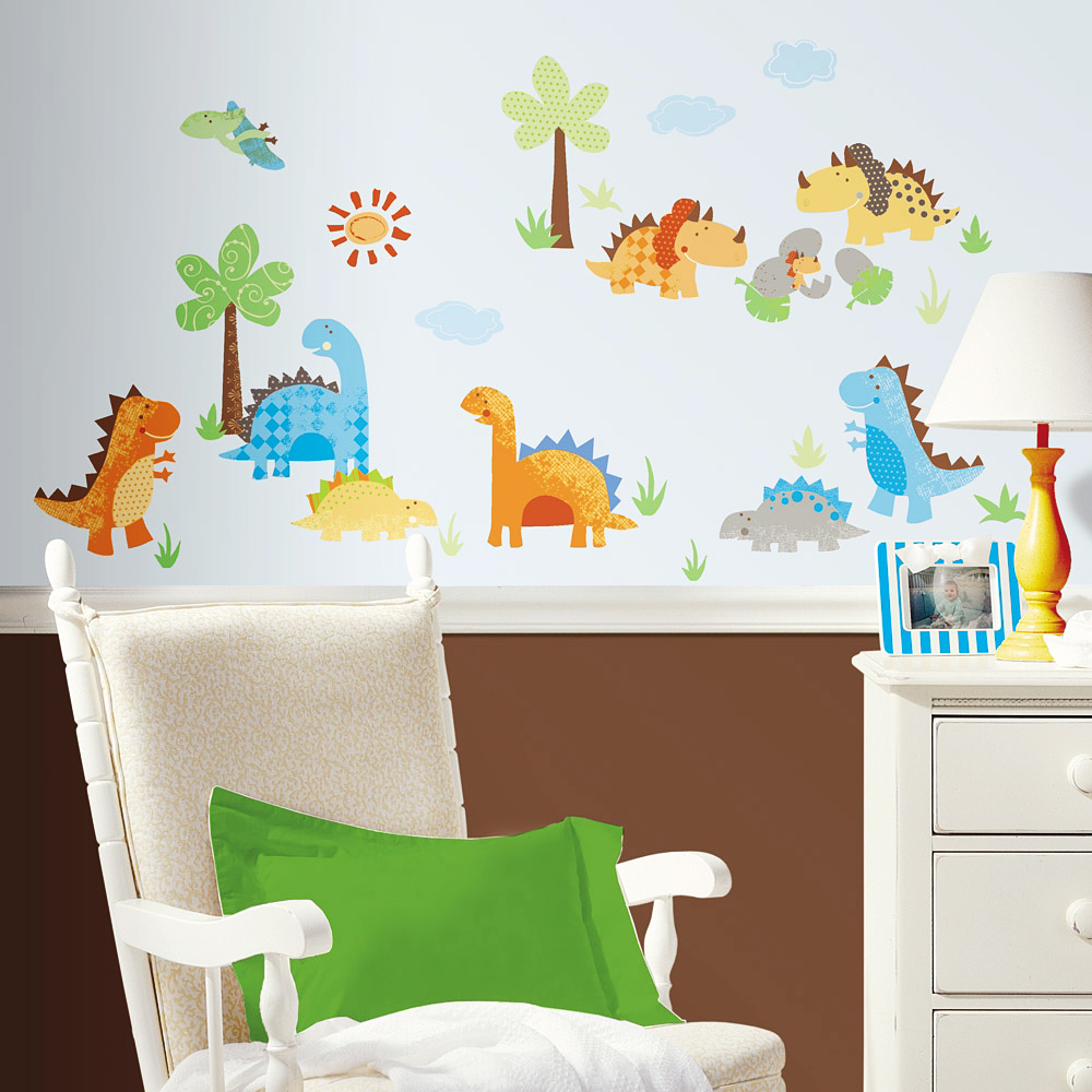 roommates wandsticker wandtattoo baby dinosaurier. Black Bedroom Furniture Sets. Home Design Ideas
