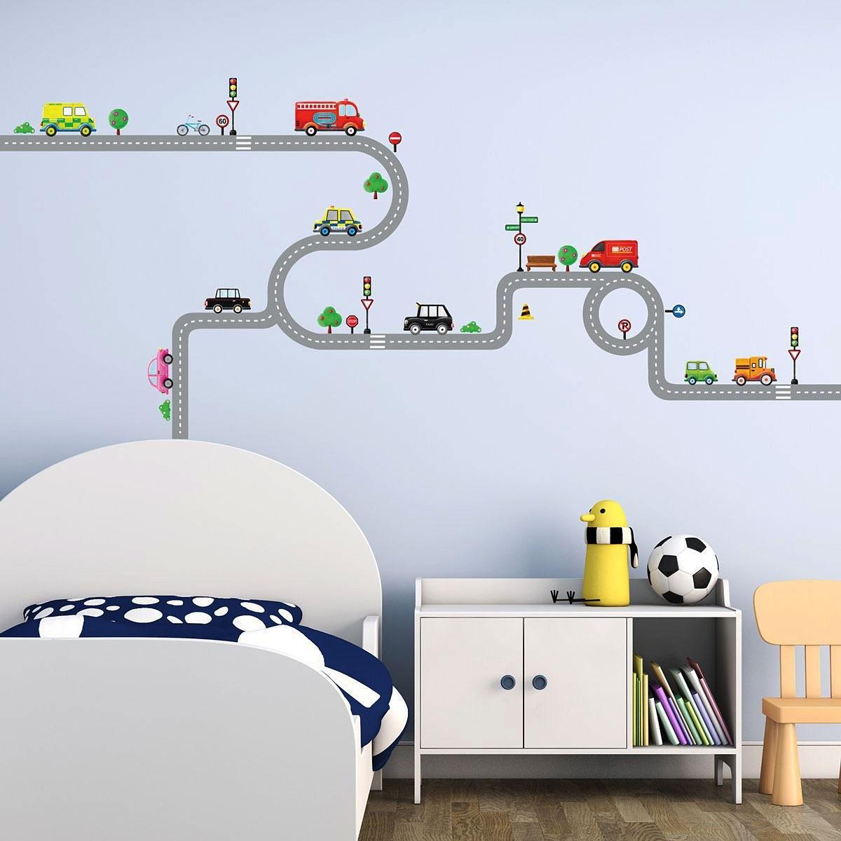 Home Decor Wandsticker Wandpuzzle Wandtattoo Autobahn Strassen Autos Kinderzimmer Jungen Home Furniture Diy Tohoku Morinagamilk Co Jp