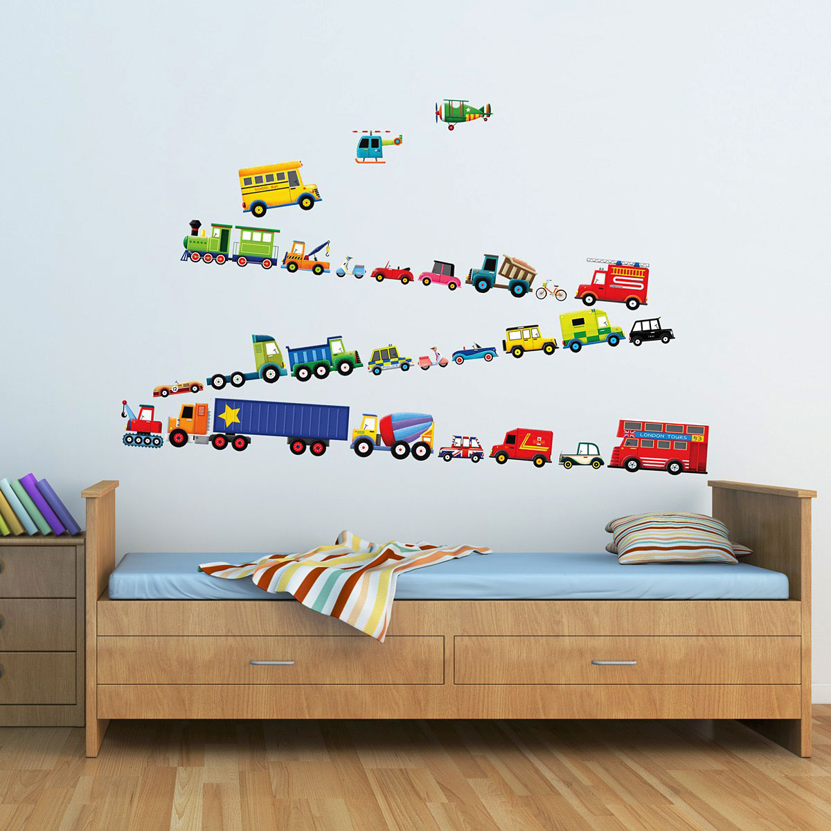 wandsticker lastkraftwagen transporter autos wandsticker kinderzimmer. Black Bedroom Furniture Sets. Home Design Ideas