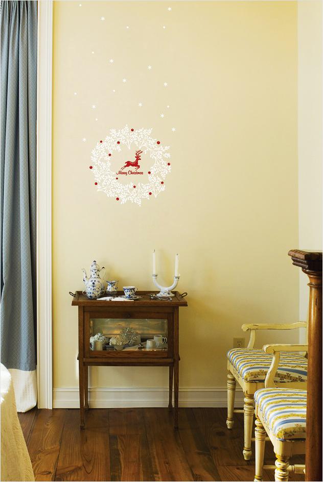 wandsticker wandtattoo fensterbild weihnachtlicher. Black Bedroom Furniture Sets. Home Design Ideas