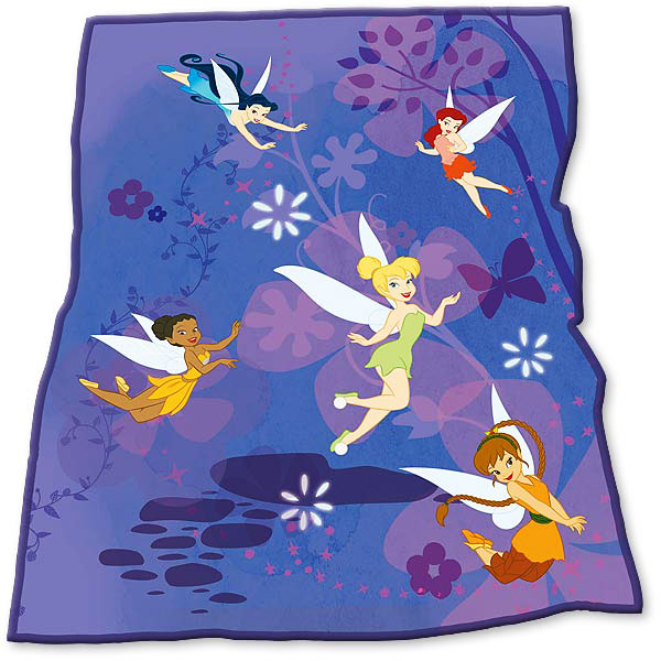 disney faries tinkerbell fleecedecke kuscheldecke. Black Bedroom Furniture Sets. Home Design Ideas