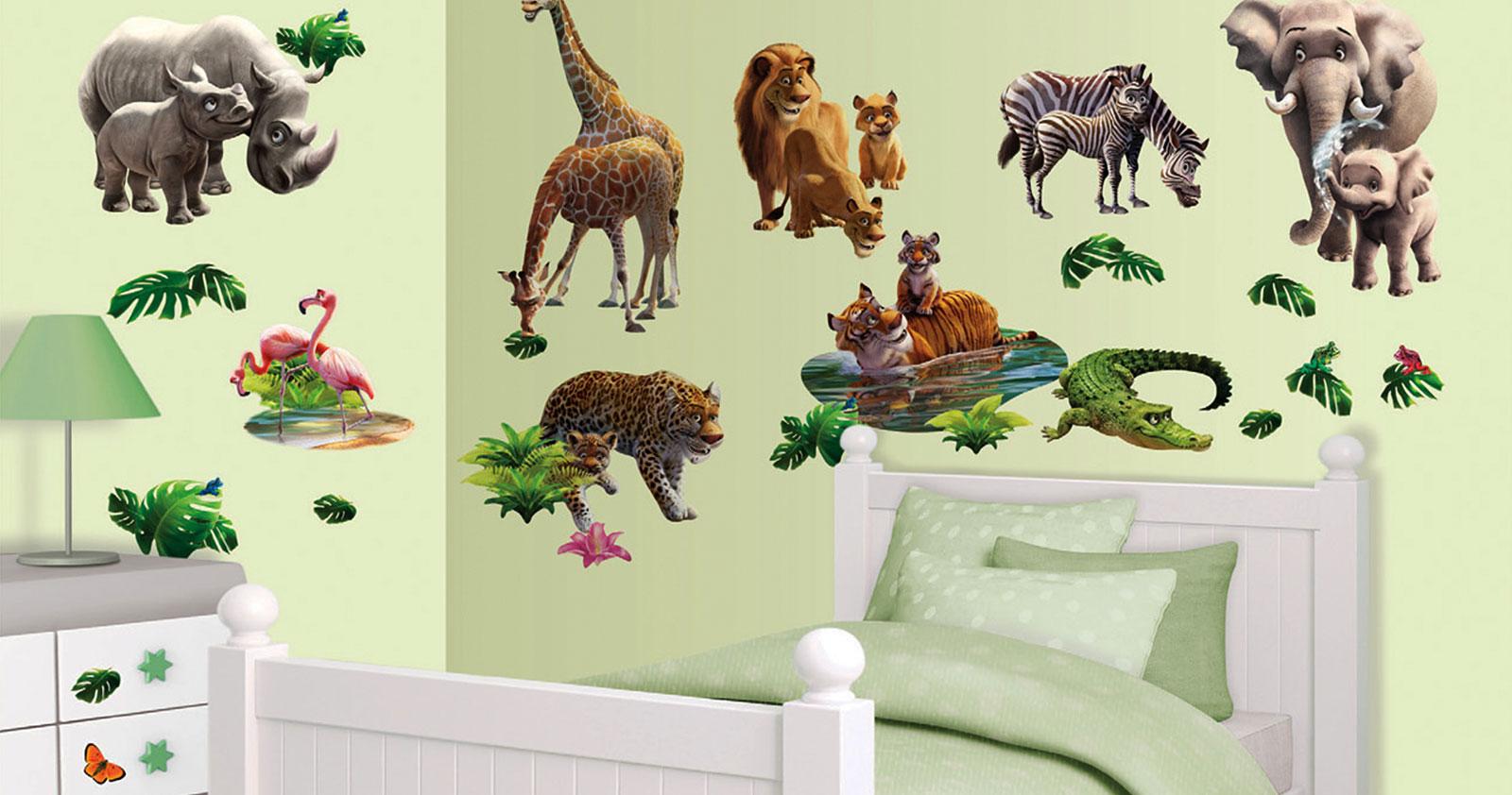 wandtattoo dschungel tiere afrika walltastic wandsticker. Black Bedroom Furniture Sets. Home Design Ideas