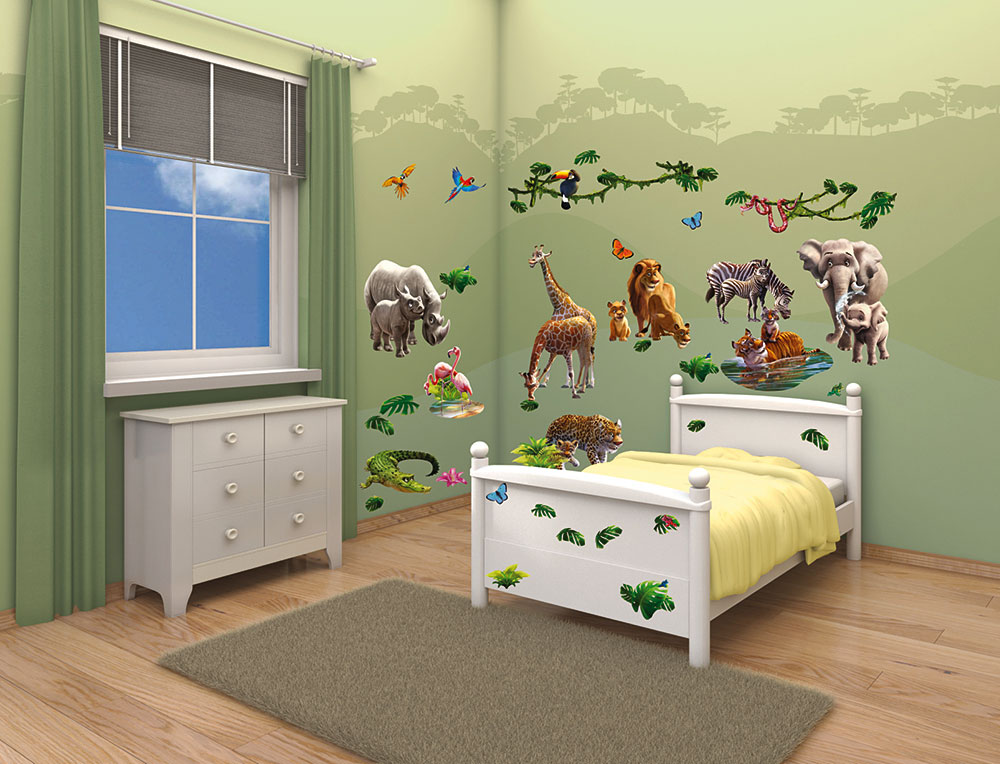 walltastic wandsticker kinderzimmer dschungel tiere afrika www 4. Black Bedroom Furniture Sets. Home Design Ideas