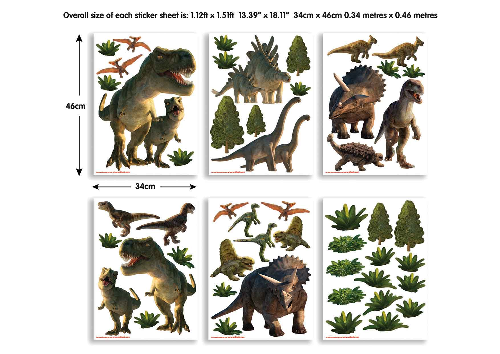 Wandtattoo dinosaurier triceratops walltastic wandsticker - Wandtattoo dino ...