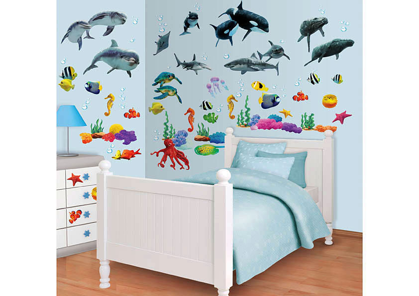 Walltastic Wandsticker Wandtattoo Set Kinderzimmer Fische Sea ...
