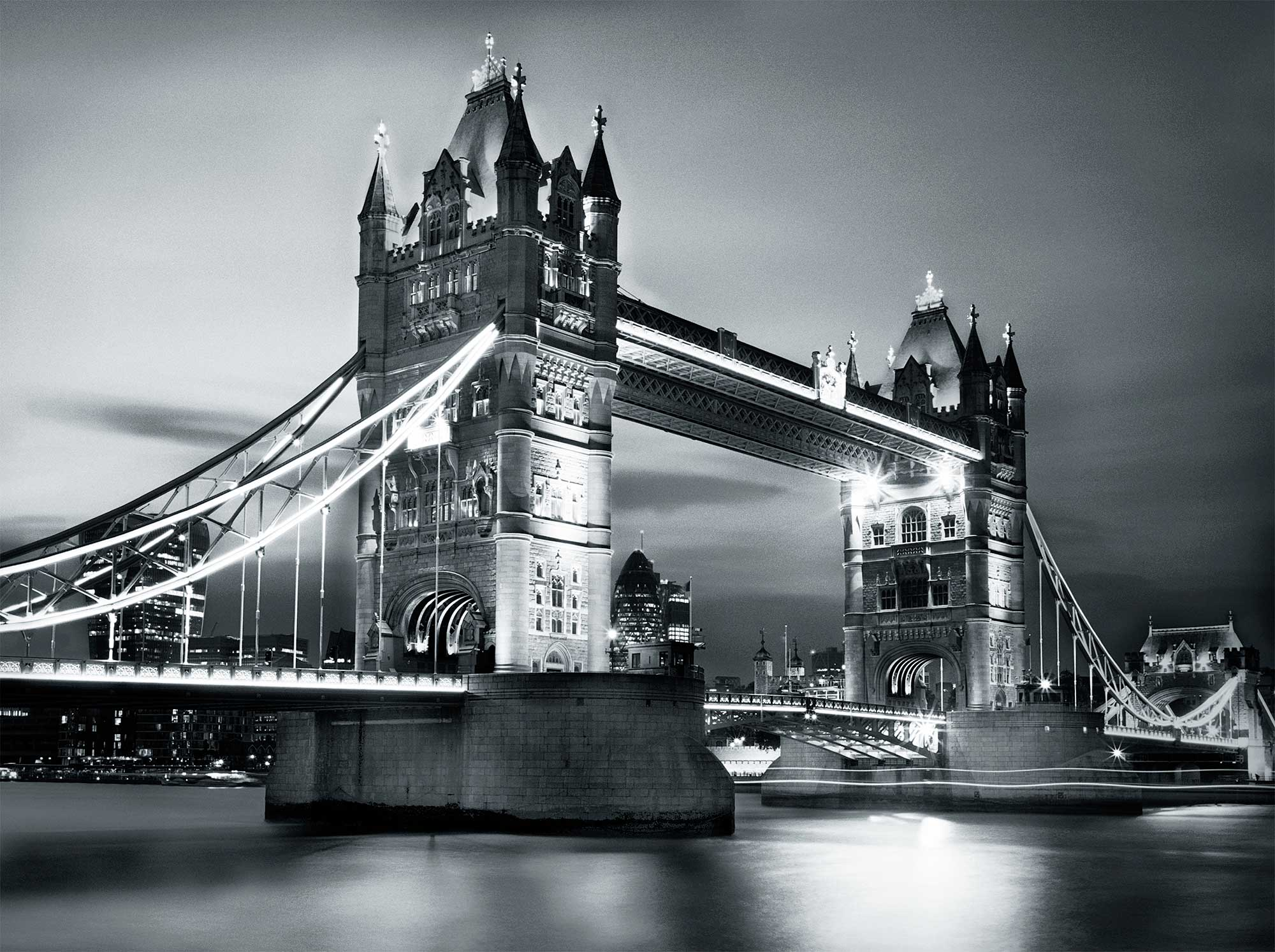 Wandbild Tower Bridge in London-Fototapete 4 Teile