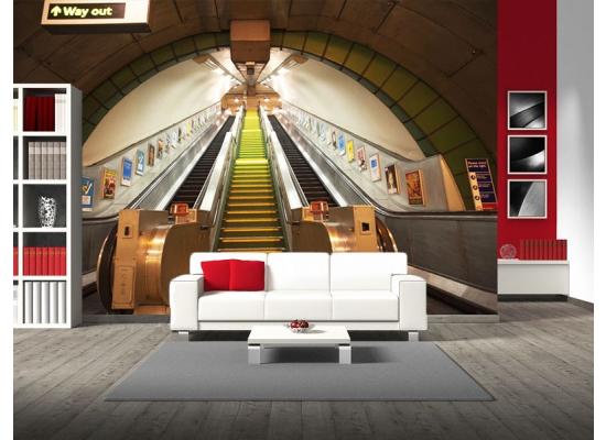 ... Riesen Wandbild Fototapete Poster U Bahn Rolltreppe London Wohnzimmer  ...