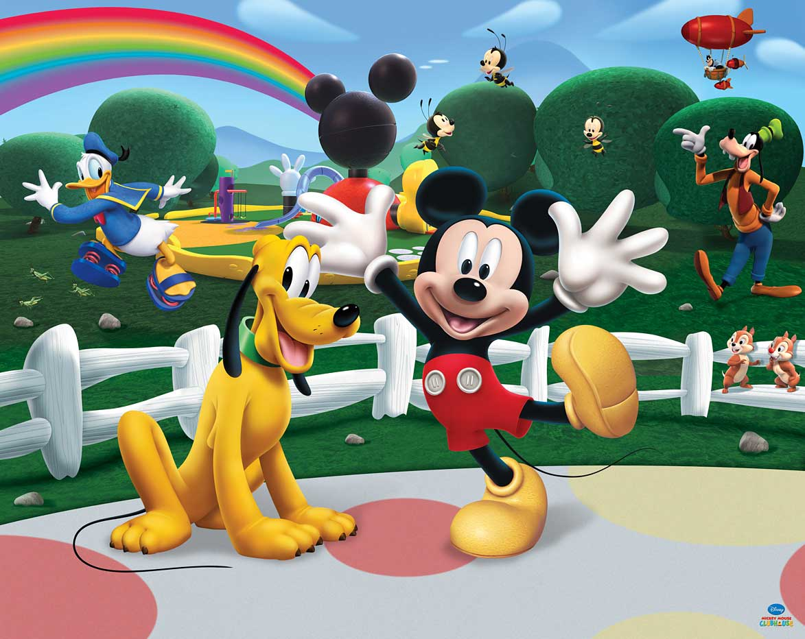 Fototapete Kinderzimmer Disney Mickey Mouse-Walltastic Fototapete