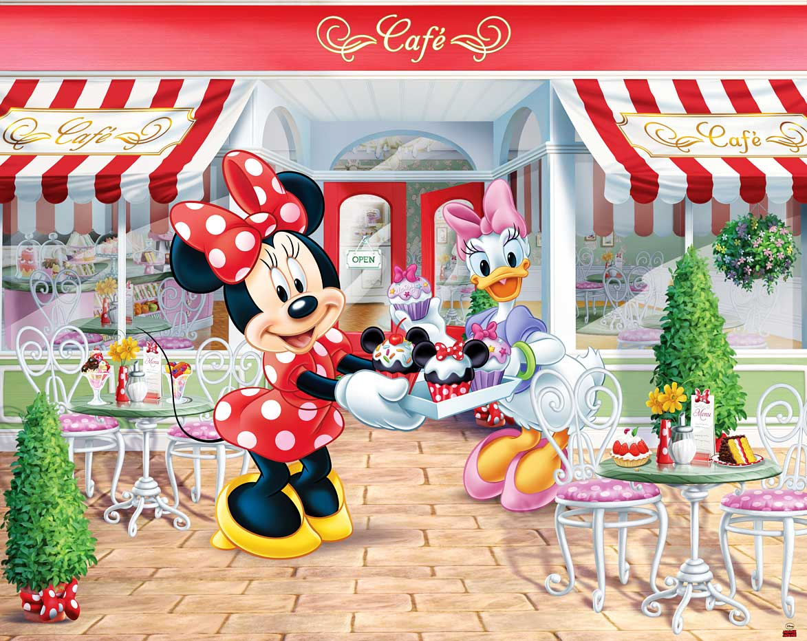 walltastic fototapete kinderzimmer disney minnie mouse. Black Bedroom Furniture Sets. Home Design Ideas