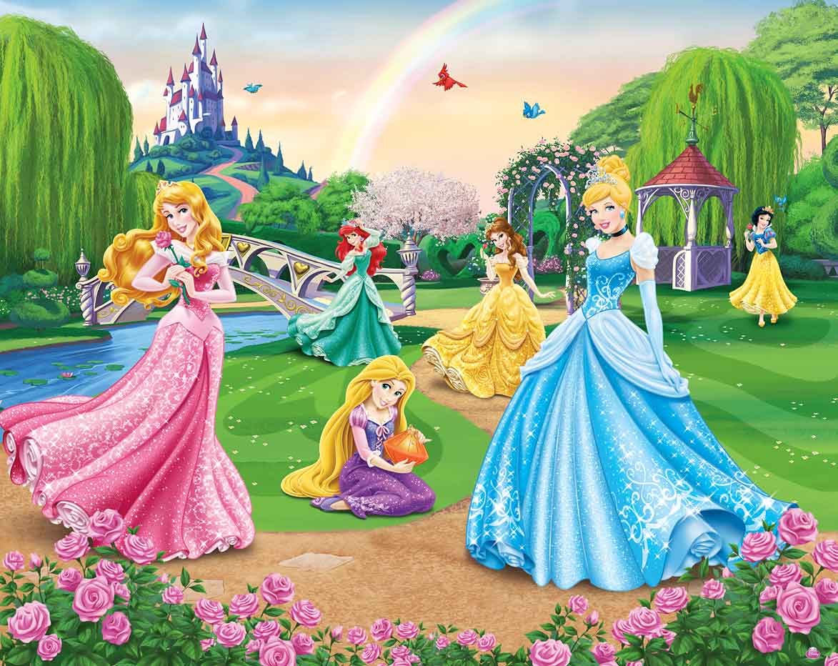walltastic fototapete kinderzimmer disney princess. Black Bedroom Furniture Sets. Home Design Ideas
