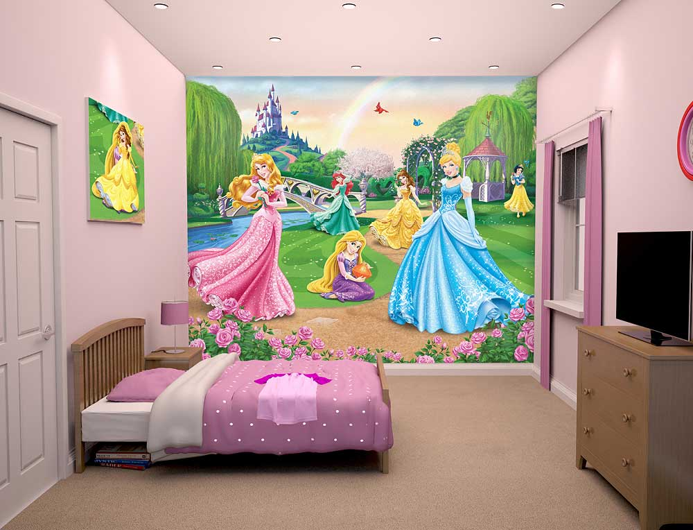 fototapete kinderzimmer disney princess wandbild walltastic fototapete. Black Bedroom Furniture Sets. Home Design Ideas