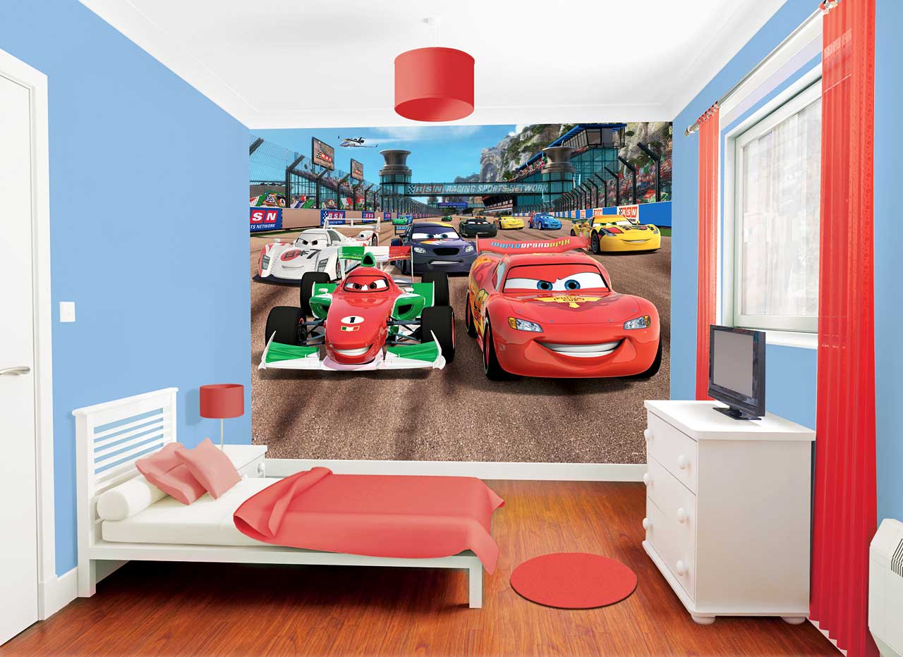 fototapete kinderzimmer disney pixar cars lightning mcqueen inkl tapetenkleister ebay. Black Bedroom Furniture Sets. Home Design Ideas