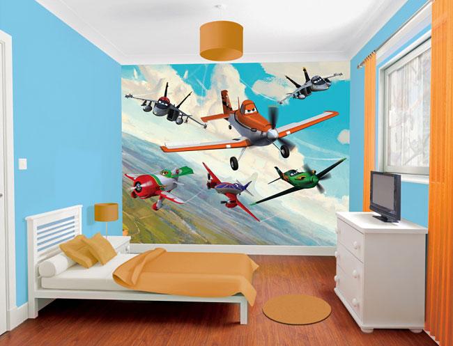 fototapete kinderzimmer disney planes flugzeuge walltastic. Black Bedroom Furniture Sets. Home Design Ideas