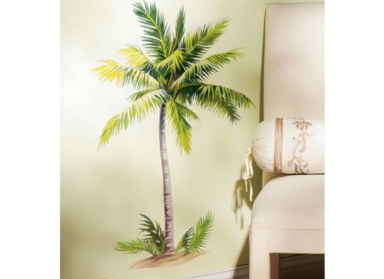 Wandsticker wandbild palme selbstklebend wohnzimmer for Wohnzimmer palme