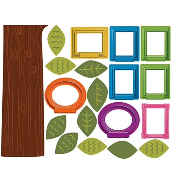 wandsticker fotorahmen familienstammbaum wohnzimmer. Black Bedroom Furniture Sets. Home Design Ideas