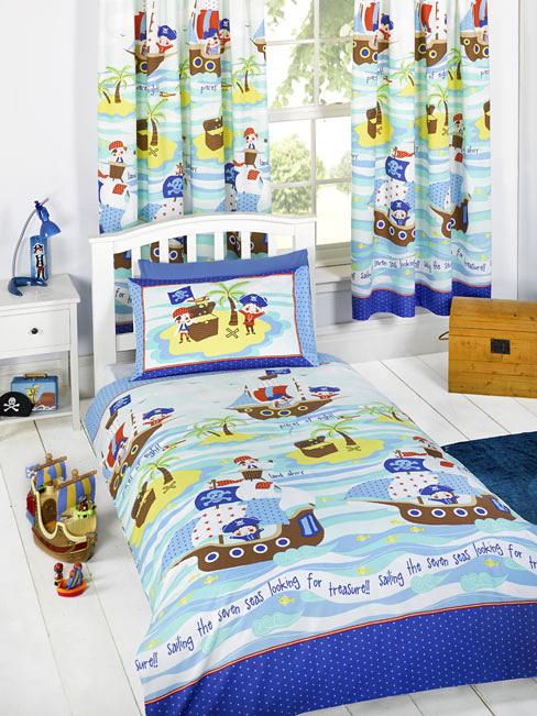 Gardinen Piraten sieben Meere-Bettwäsche