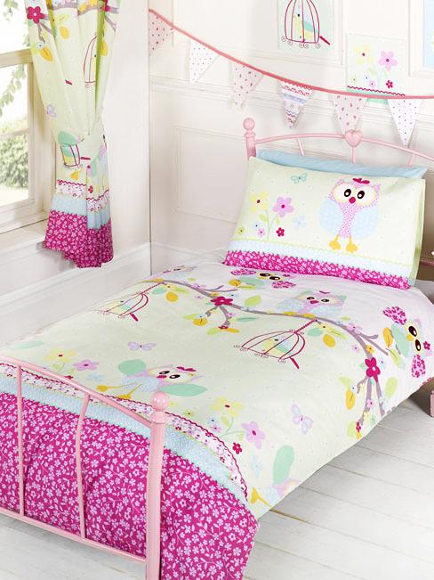 bettw sche eulen bettgarnitur eulenmotiv 135x200 50x75cm brandneues design ebay. Black Bedroom Furniture Sets. Home Design Ideas
