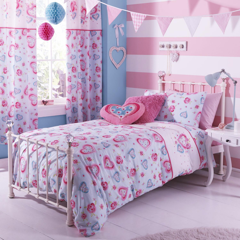 bettw sche bettgarnitur sweethearts kinderzimmer m dchen herzen rosa 135x200cm ebay. Black Bedroom Furniture Sets. Home Design Ideas