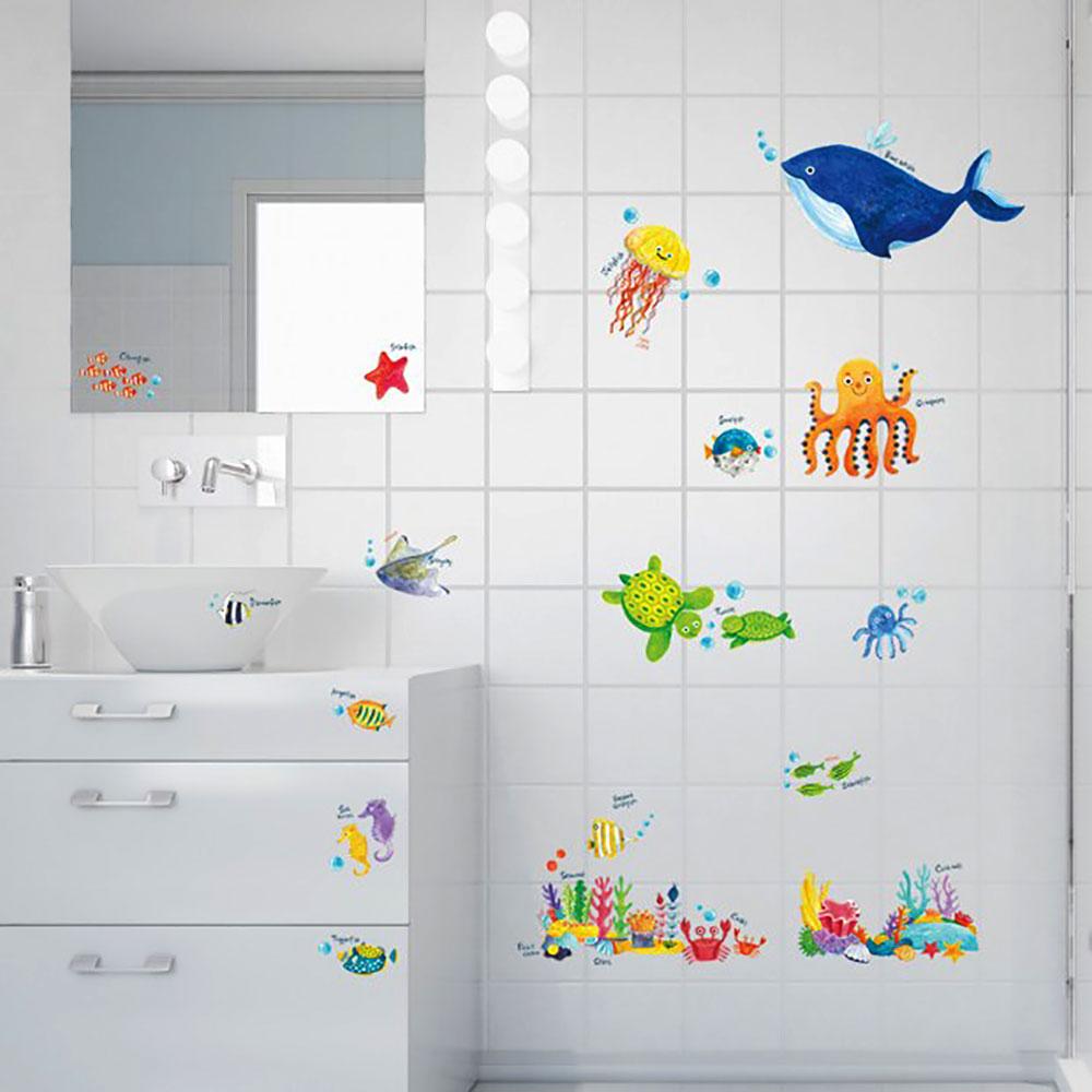 wandsticker wandtattoo meerestiere unterwasserwelt fische kinderzimmer www 4. Black Bedroom Furniture Sets. Home Design Ideas