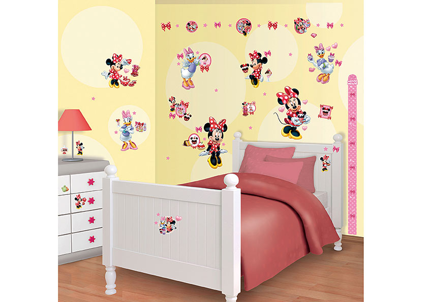 wandsticker disney minnie mouse daisy duck walltastic. Black Bedroom Furniture Sets. Home Design Ideas