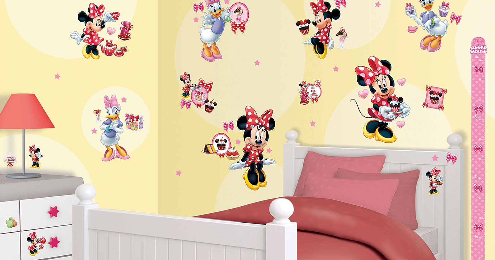 walltastic wandsticker kinderzimmer disney minnie mouse. Black Bedroom Furniture Sets. Home Design Ideas