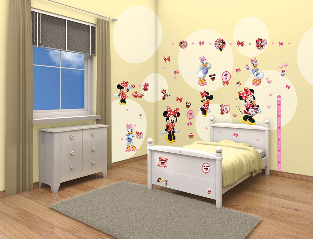 riesiges wandsticker set disney minnie mouse daisy duck. Black Bedroom Furniture Sets. Home Design Ideas