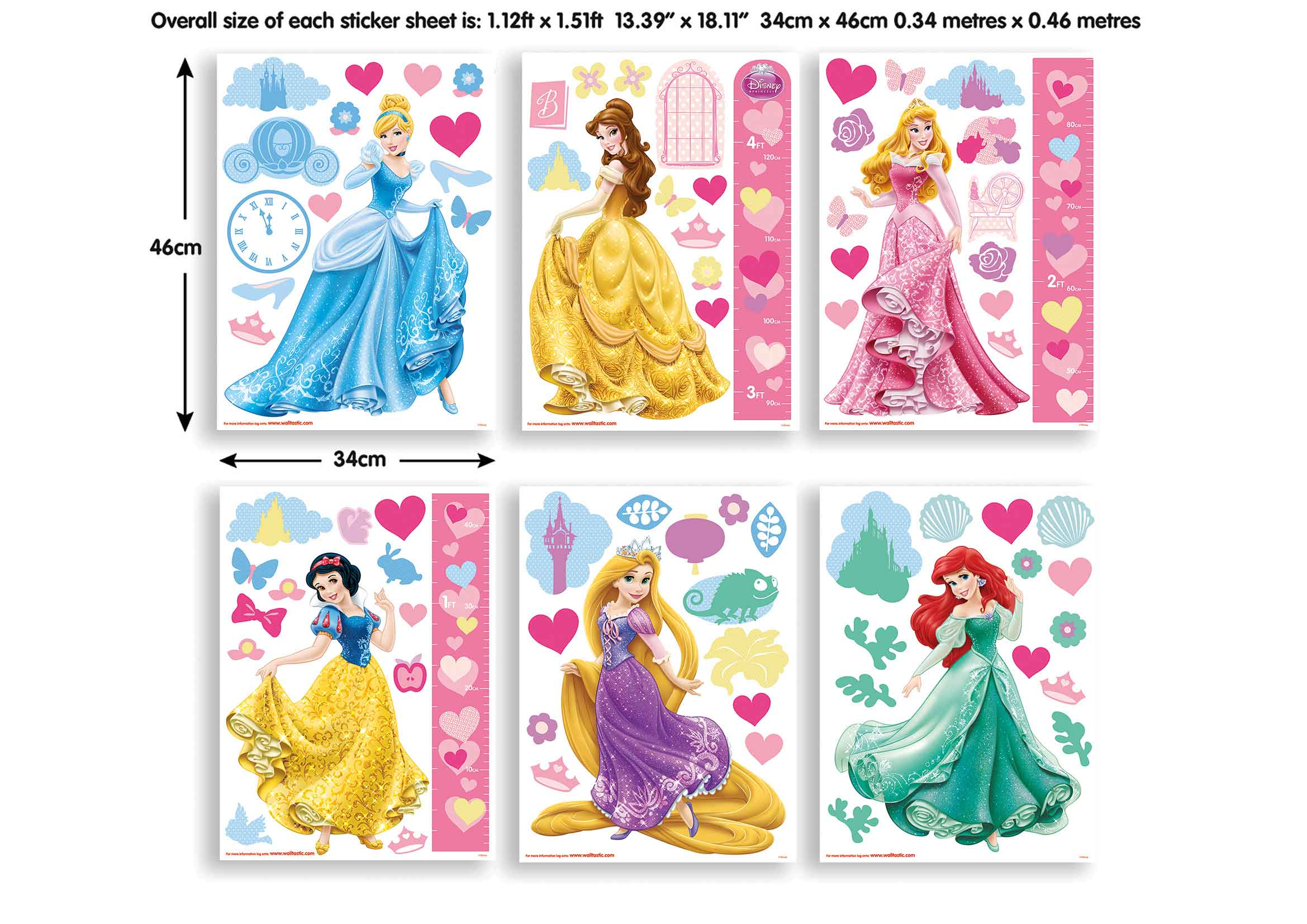 Walltastic wandsticker kinderzimmer disney princess www 4 - Wandtattoo kinderzimmer disney ...