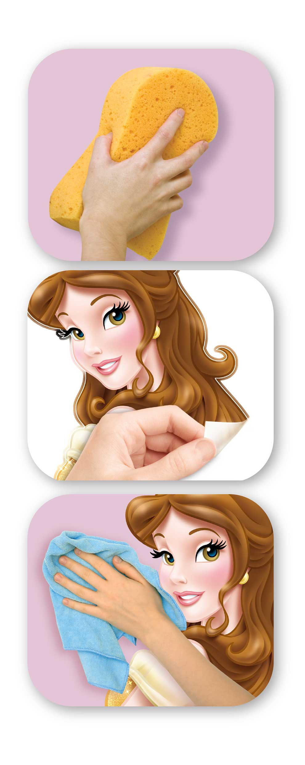 Wandtattoo Disney Princess-Walltastic Wandsticker