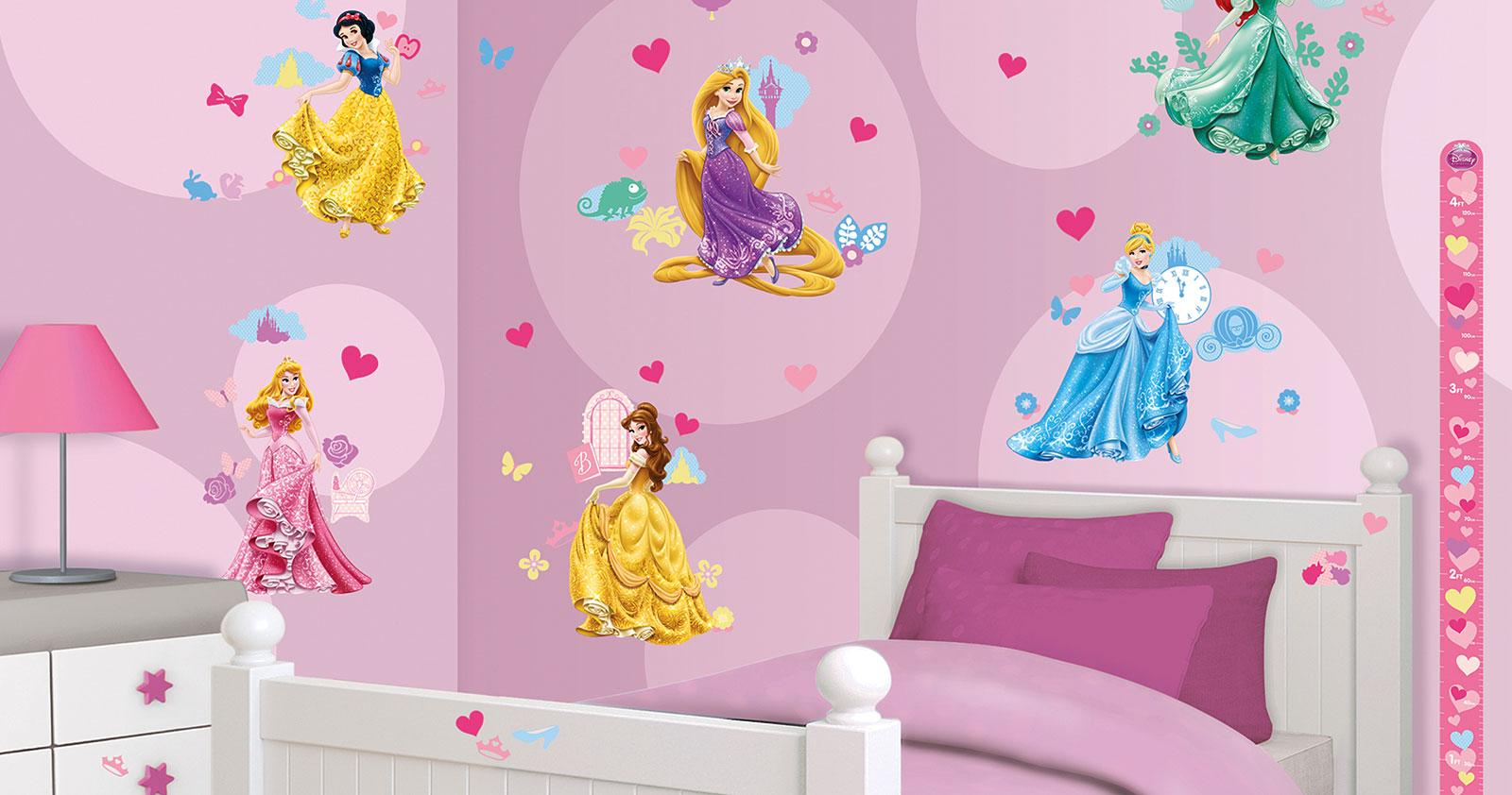 Wandtattoo disney princess walltastic wandsticker for Disney zimmer deko