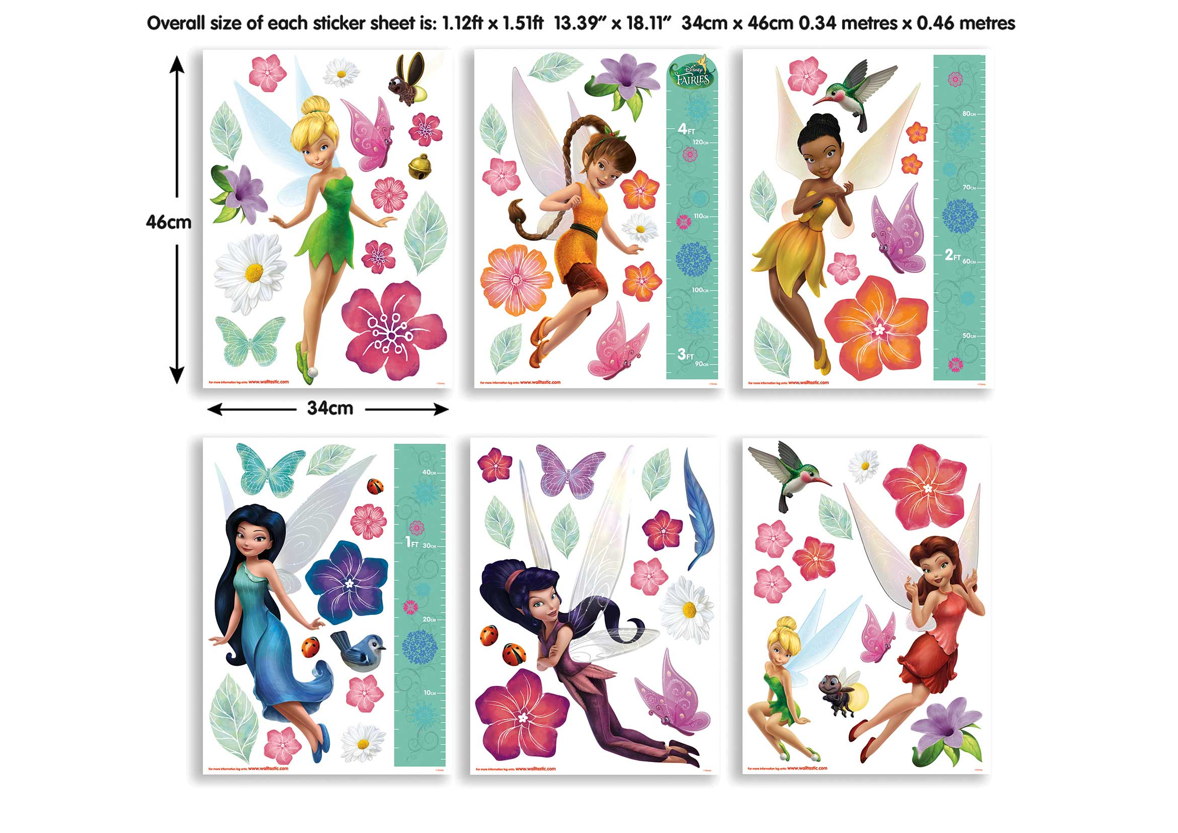 walltastic wandsticker kinderzimmer disney fairies. Black Bedroom Furniture Sets. Home Design Ideas
